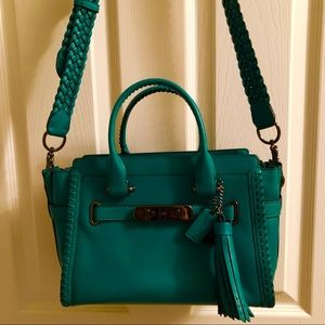 COACH SWAGGER RIP REPAIR FOREST GRN LEATHER 38362